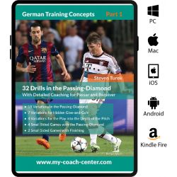 German Training Concepts - 32 Drills in the Passing Diamond - eBook Only