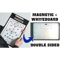 Soccer Coaches Double-Sided Magnetic Clipboard - Football Tactic Board
