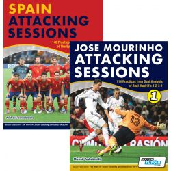 Jose Mourinho Attacking Sessions + Spain Attacking Sessions - Bundle with over 250 Practices