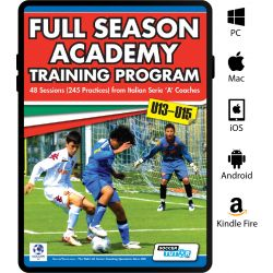 Full Season Academy Training Program U13-15 - 48 Sessions (240 Practices) from Italian Serie 'A' Coaches