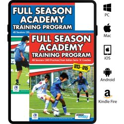 Full Season Academy Training Program U9-15 Book Set - 88 Sessions (440 Practices)