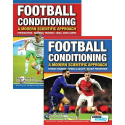 Football Conditioning: A Modern Scientific Approach 2 Book Set - Speed & Agility | Injury Prevention | Periodization Training | Small Sided Games