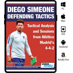 Diego Simeone Defending Tactics - Tactical Analysis and Sessions from Atlético Madrid's 4-4-2 - eBook Only