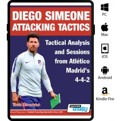 Diego Simeone Attacking Tactics - Tactical Analysis and Sessions from Atlético Madrid's 4-4-2 - eBook Only